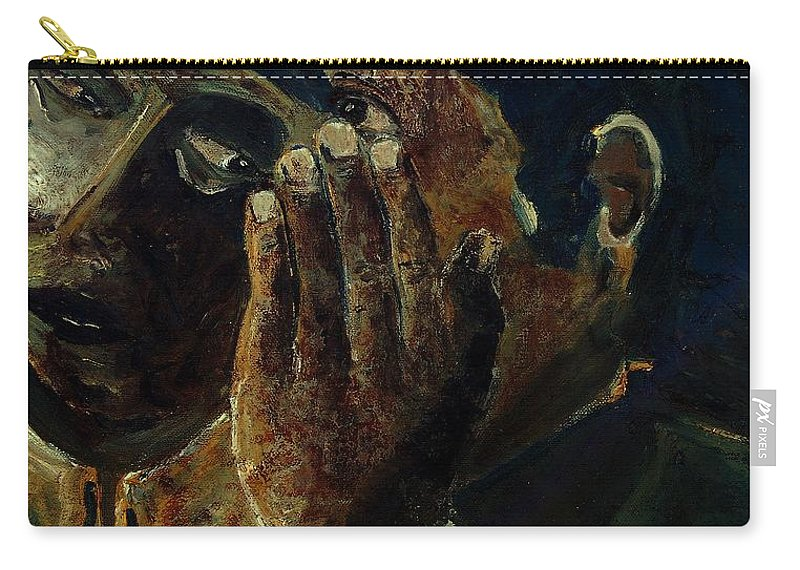 Figurative Carry-all Pouch featuring the painting Gossip by Pol Ledent