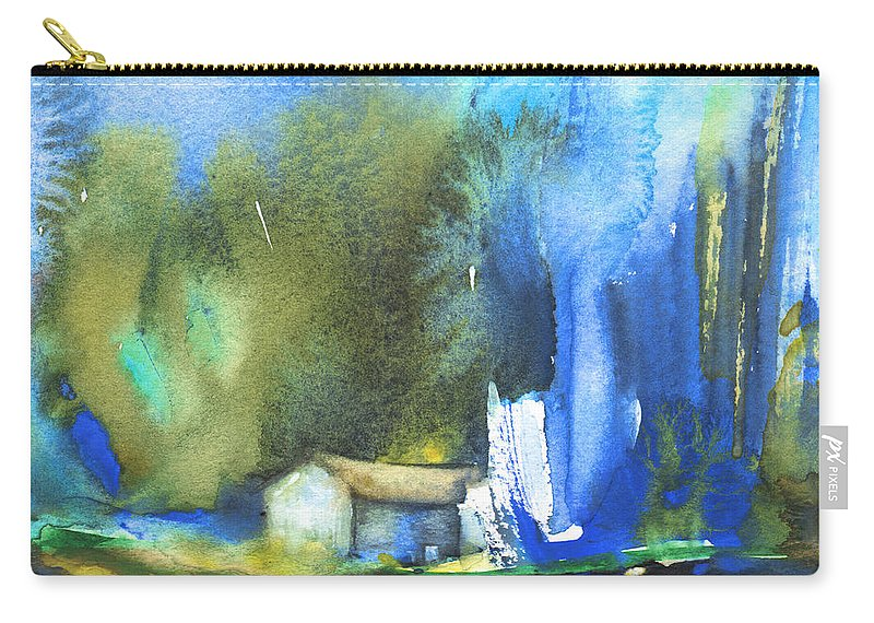 Watercolour Carry-all Pouch featuring the painting Got The Blues by Miki De Goodaboom