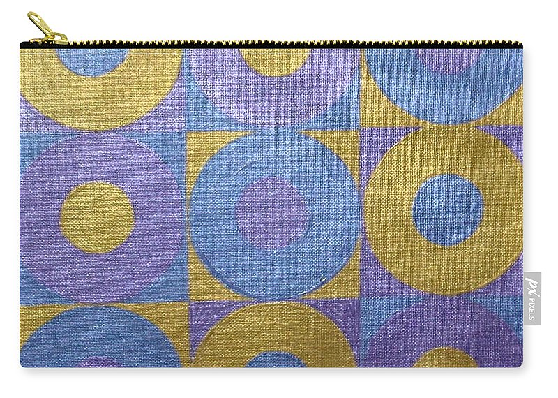 Bkue Carry-all Pouch featuring the painting Got The Brass Blues by Gay Dallek