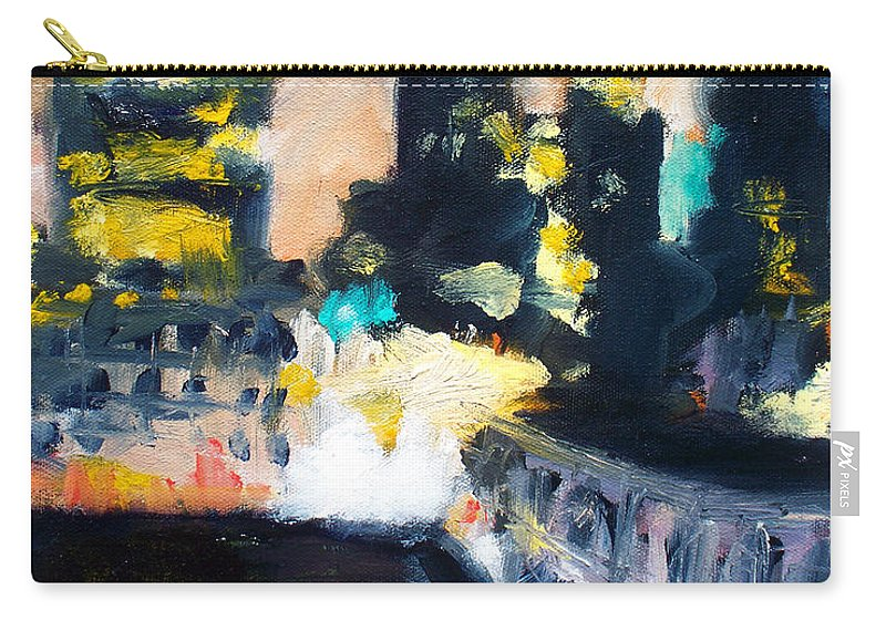 Des Moines Carry-all Pouch featuring the painting Gotham by Robert Reeves