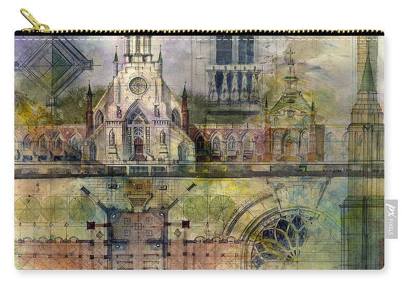 Gothic Carry-all Pouch featuring the painting Gothic by Andrew King