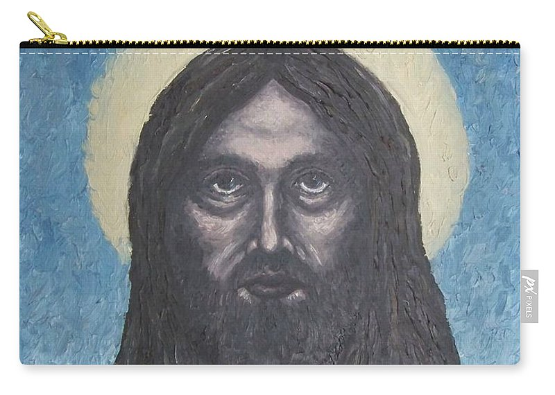Michael Carry-all Pouch featuring the painting Gothic Jesus by Michael TMAD Finney