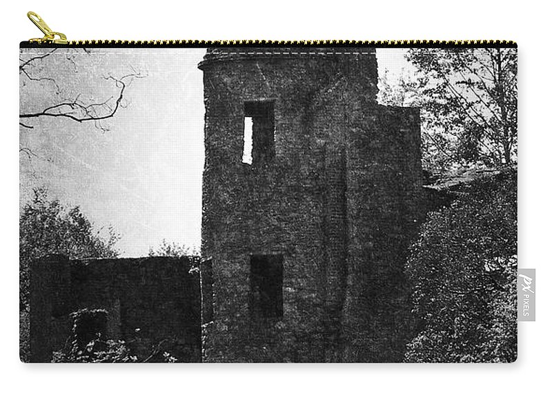 Irish Carry-all Pouch featuring the photograph Gothic Tower At Blarney Castle Ireland by Teresa Mucha