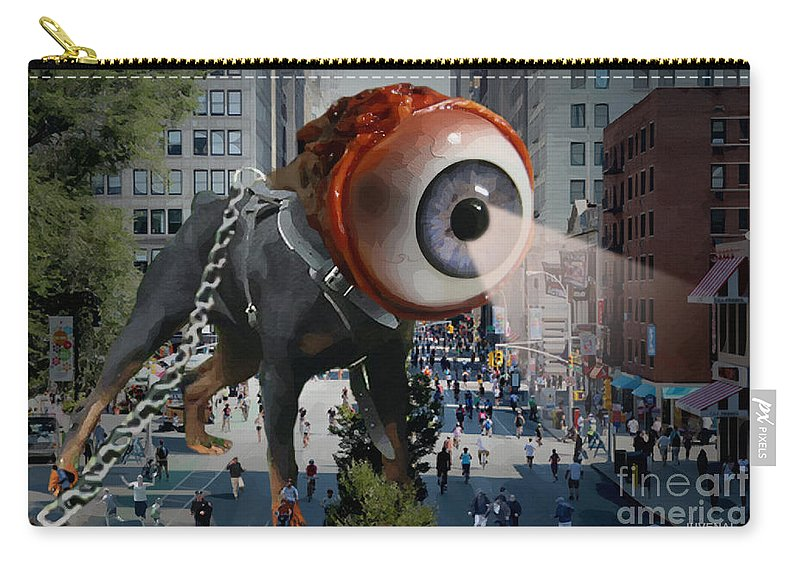 Canvas Prints Carry-all Pouch featuring the digital art Government Unleashed by Joseph Juvenal