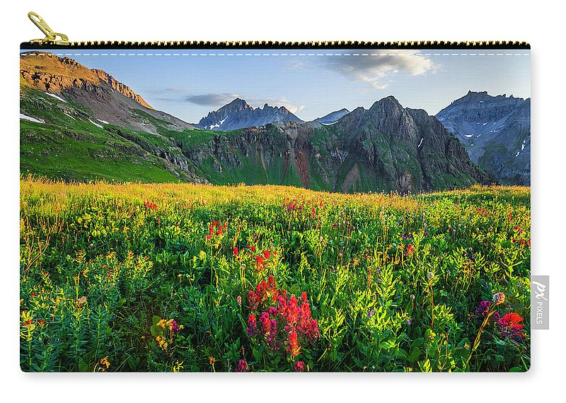 Landscape Carry-all Pouch featuring the photograph Governor's Basin In Bloom by Wick Smith