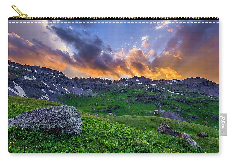 Landscape Carry-all Pouch featuring the photograph Governor's Basin Sunset by Wick Smith