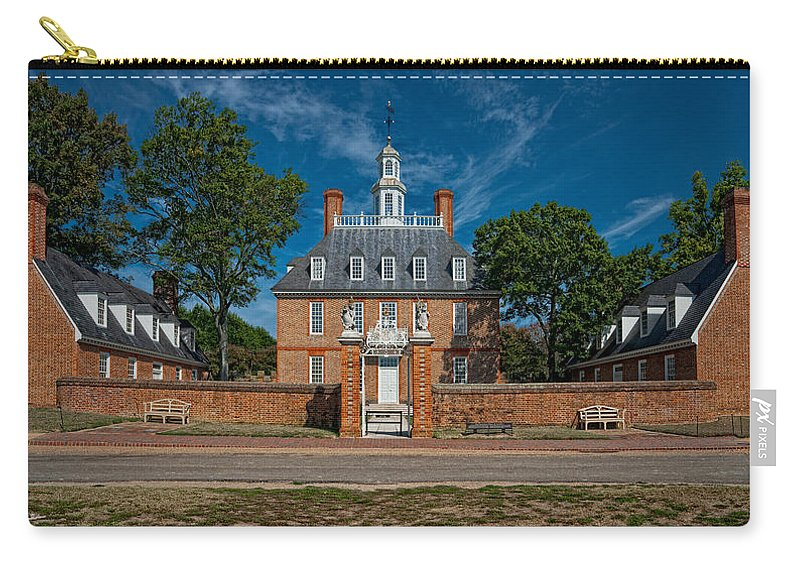 Virginia Carry-all Pouch featuring the photograph Governor's Palace by Christopher Holmes