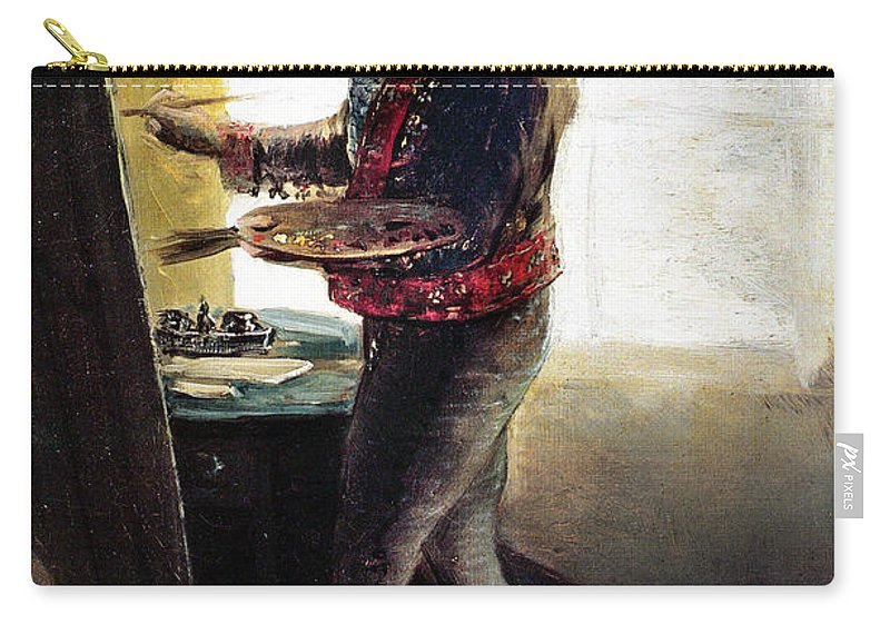 1790s Carry-all Pouch featuring the photograph Goya: Self-portrait by Granger