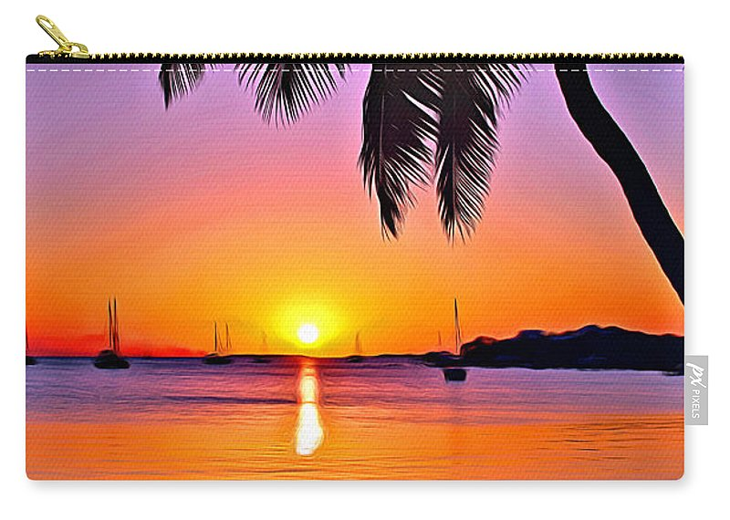 Hammock Carry-all Pouch featuring the digital art Grabbers Sun by Anthony C Chen
