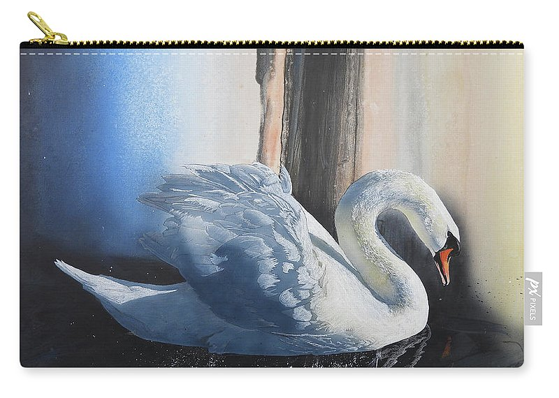 Birds Carry-all Pouch featuring the painting Grace by Dale Cooper