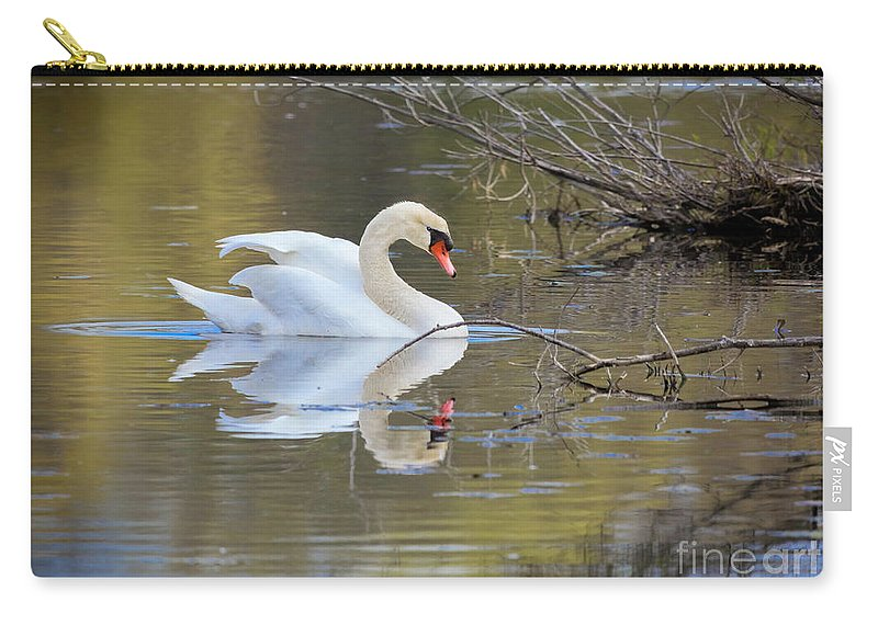 Mute Swans Carry-all Pouch featuring the photograph Graceful Swan I by Karen Jorstad