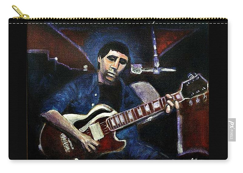 Shining Guitar Carry-all Pouch featuring the painting Graceland Tribute To Paul Simon by Seth Weaver