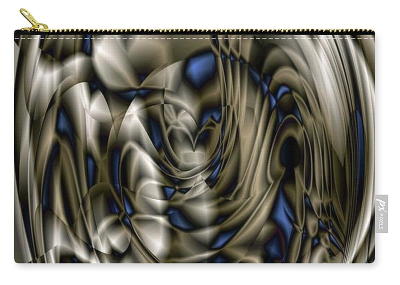 Pewter Carry-all Pouch featuring the digital art Gradient Series 5 by Ron Bissett
