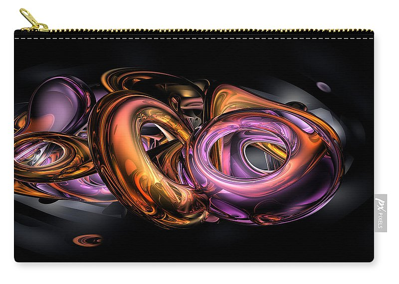 3d Carry-all Pouch featuring the digital art Graffiti Abstract by Alexander Butler