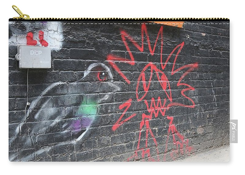 Graffiti Carry-all Pouch featuring the photograph Graffiti Pigeon by Amy Stark