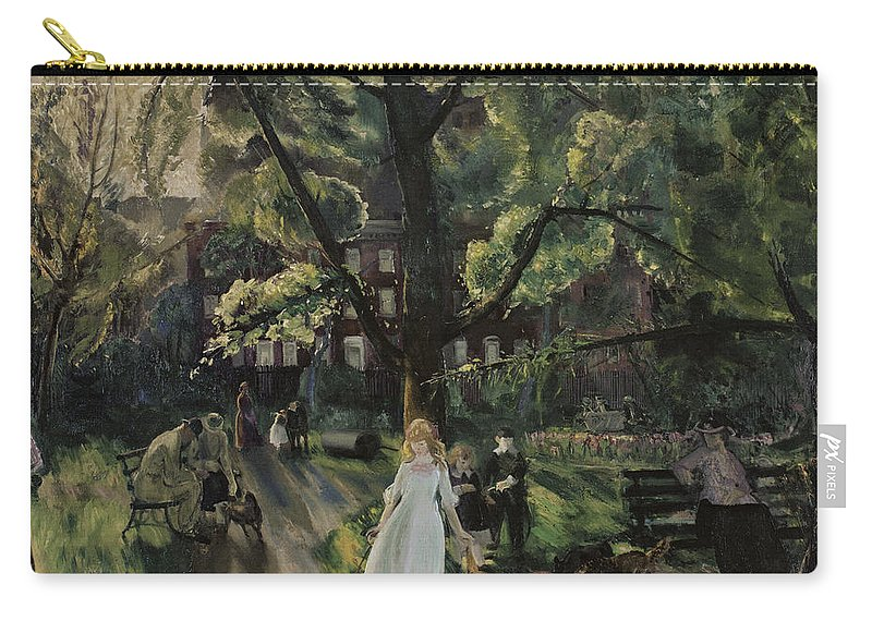 Gramercy Park Carry-all Pouch featuring the photograph Gramercy Park by George Bellows