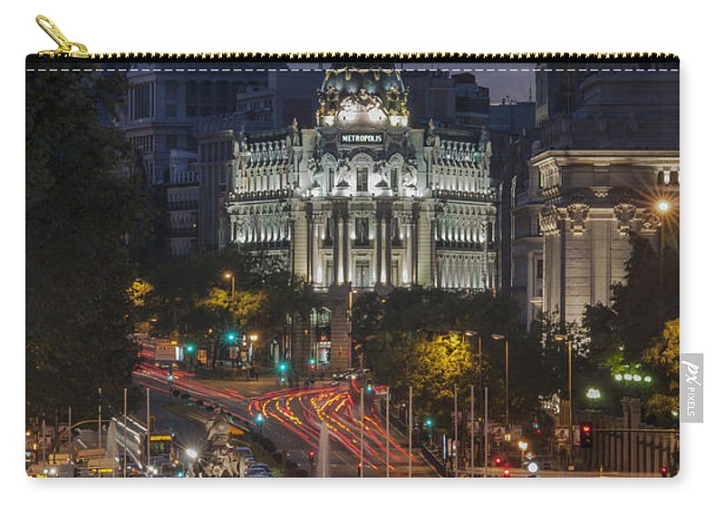 Spain Carry-all Pouch featuring the photograph Gran Via by Ayhan Altun