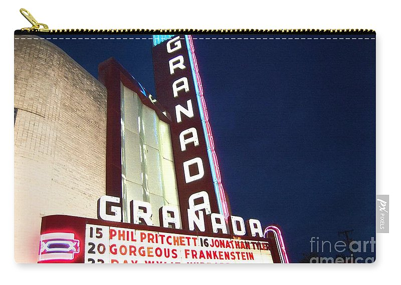 Music Carry-all Pouch featuring the photograph Granada Theater by Debbi Granruth