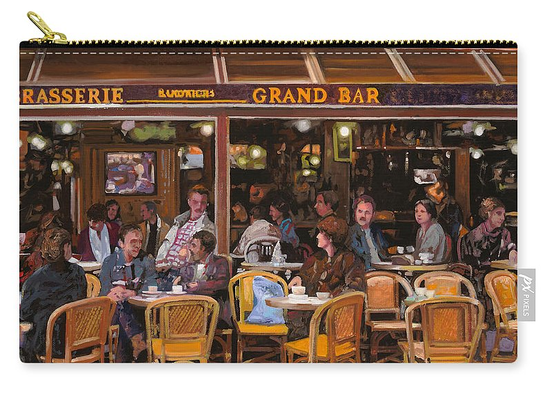 Brasserie Carry-all Pouch featuring the painting Grand Bar by Guido Borelli