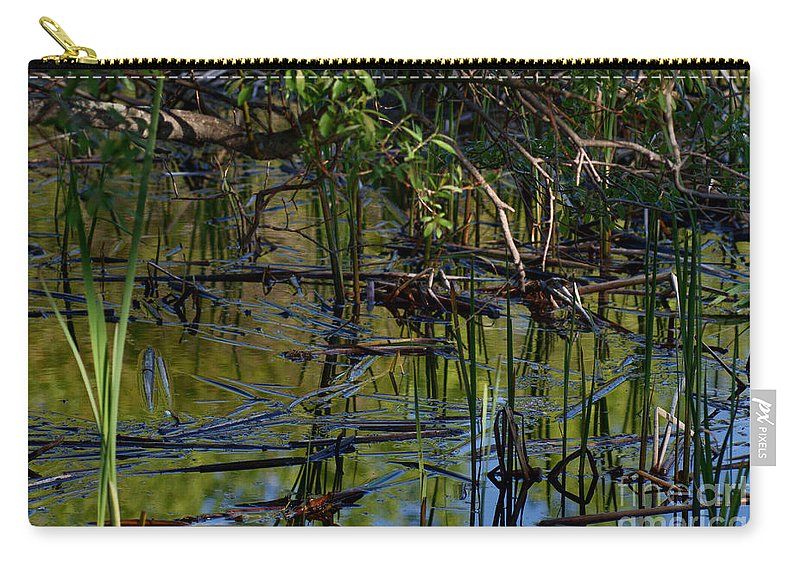Grand Beach Marsh Manitoba Canada Carry-all Pouch featuring the photograph Grand Beach Marsh by Joanne Smoley