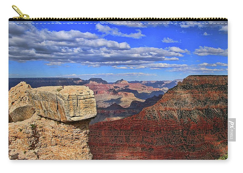 Grand Canyon Carry-all Pouch featuring the photograph Grand Canyon # 29 - Mather Point Overlook by Allen Beatty