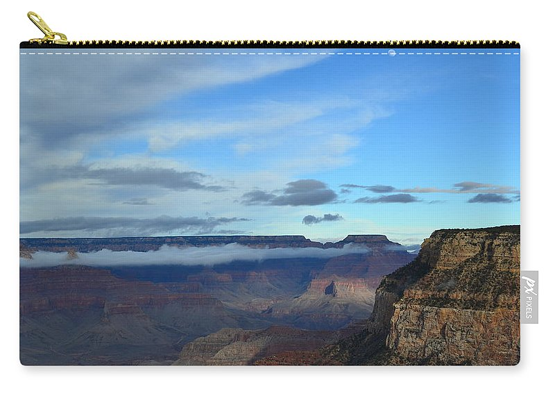 Grand Canyon Carry-all Pouch featuring the photograph Grand Canyon Moonrise by Colleen Phaedra