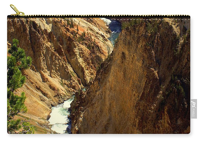 Yellowstone River Carry-all Pouch featuring the photograph Grand Canyon Of The Yellowstone 2 by Marty Koch