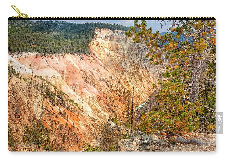 Canyon Carry-all Pouch featuring the photograph Grand Canyon Of The Yellowstone by John M Bailey