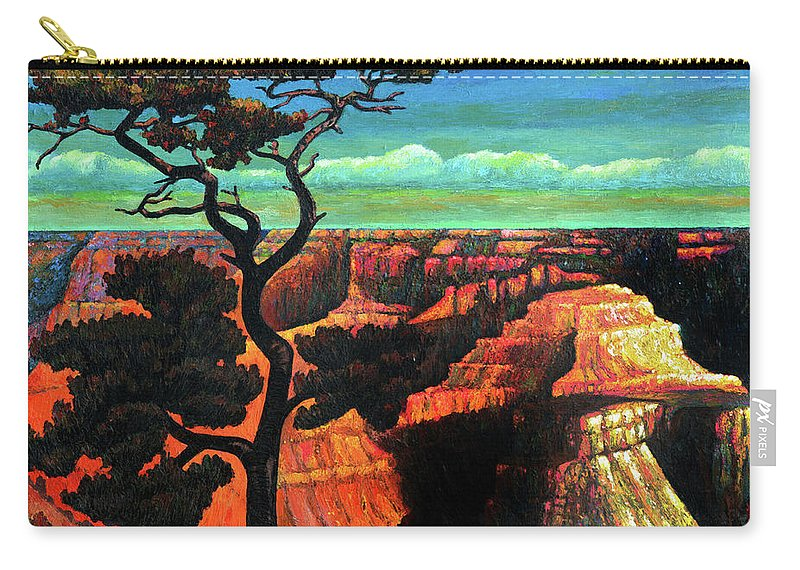 Grand Canyon Carry-all Pouch featuring the painting Grand Canyon Sunset by Richard Votch