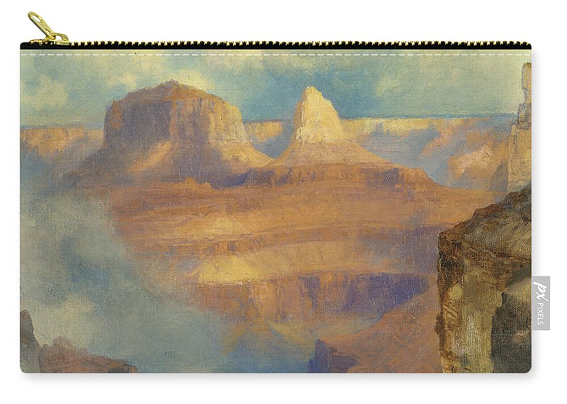 Thomas Moran Carry-all Pouch featuring the painting Grand Canyon by Thomas Moran