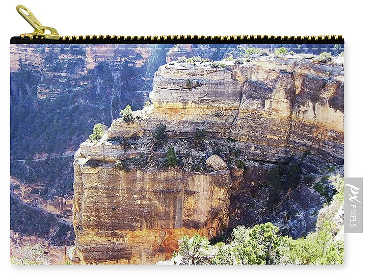 The Grand Canyon Is Arizona's Wonder Of The World. Carry-all Pouch featuring the photograph Grand Canyon11 by George Arthur Lareau