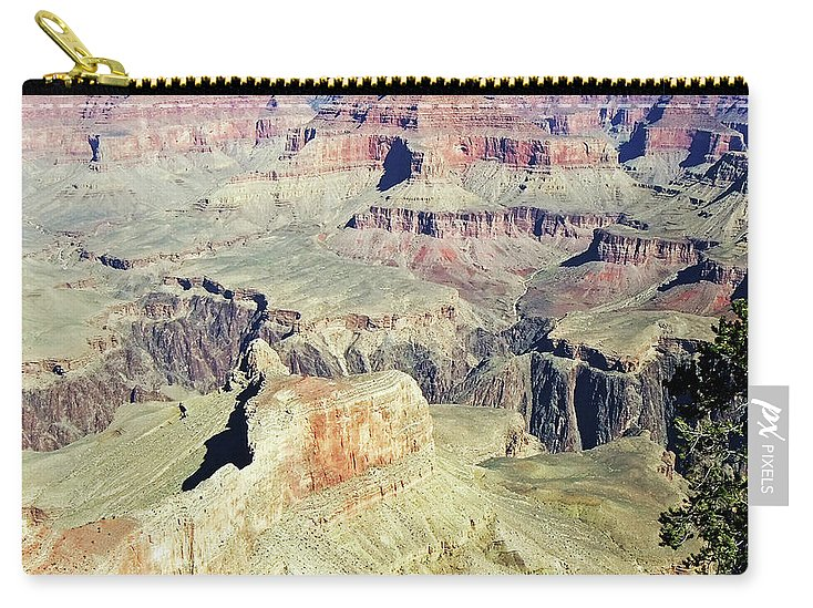 The Grand Canyon Is Arizona's Wonder Of The World. Carry-all Pouch featuring the photograph Grand Canyon22 by George Arthur Lareau