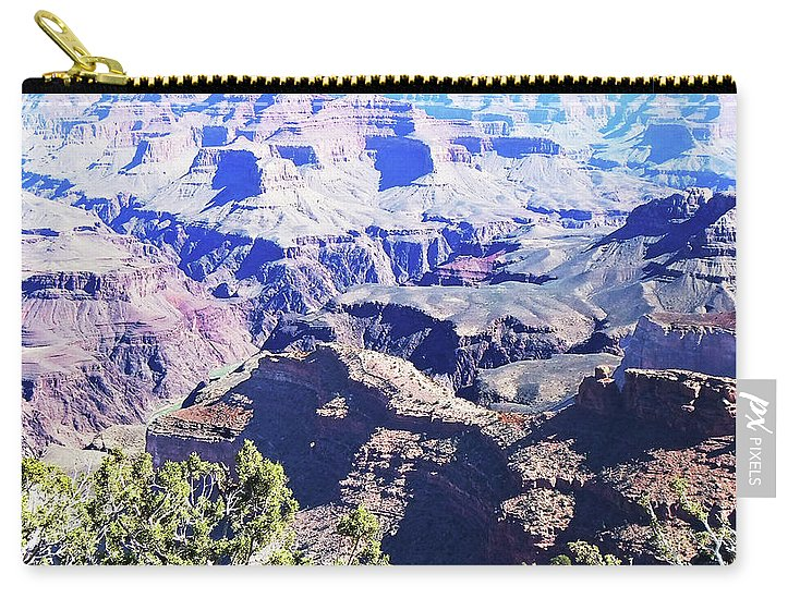 The Grand Canyon Is Arizona's Wonder Of The World. Carry-all Pouch featuring the photograph Grand Canyon23 by George Arthur Lareau