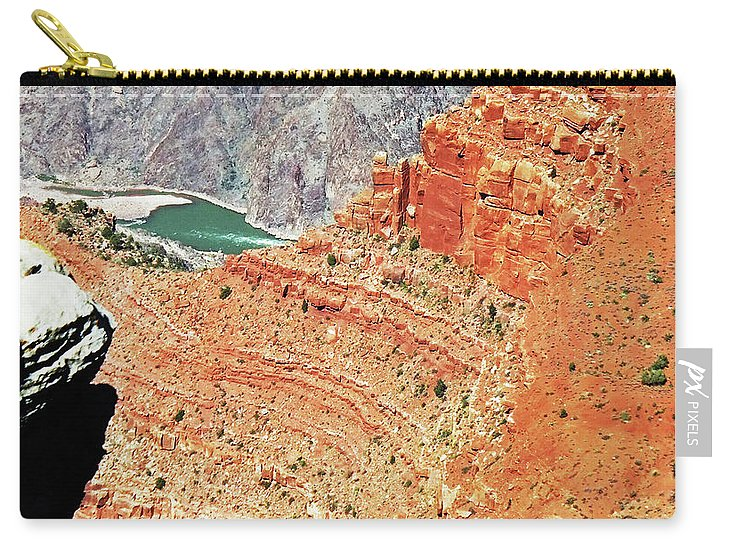 The Grand Canyon Is Arizona's Wonder Of The World. Carry-all Pouch featuring the photograph Grand Canyon36 by George Arthur Lareau