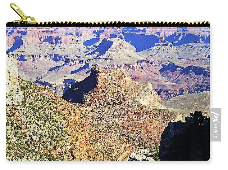 The Grand Canyon Is Arizona's Wonder Of The World. Carry-all Pouch featuring the photograph Grand Canyon4 by George Arthur Lareau