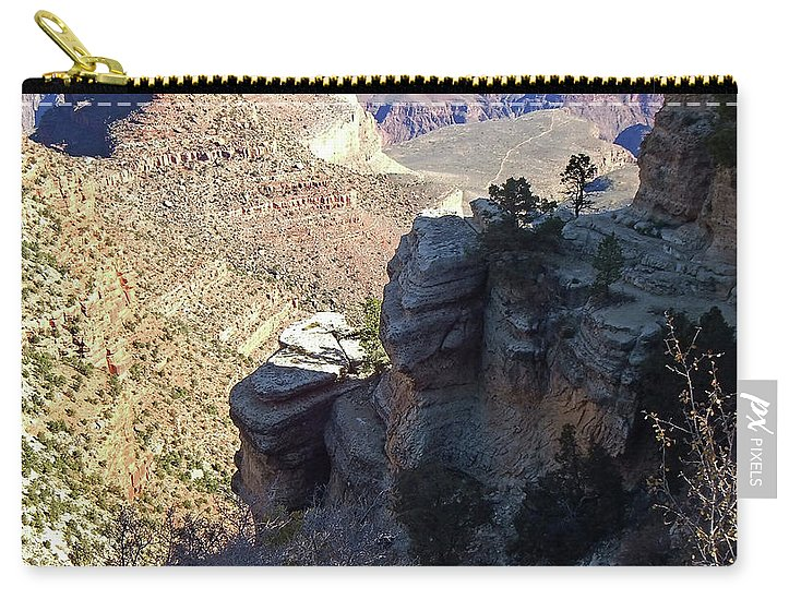 The Grand Canyon Is Arizona's Wonder Of The World. Carry-all Pouch featuring the photograph Grand Canyon5 by George Arthur Lareau