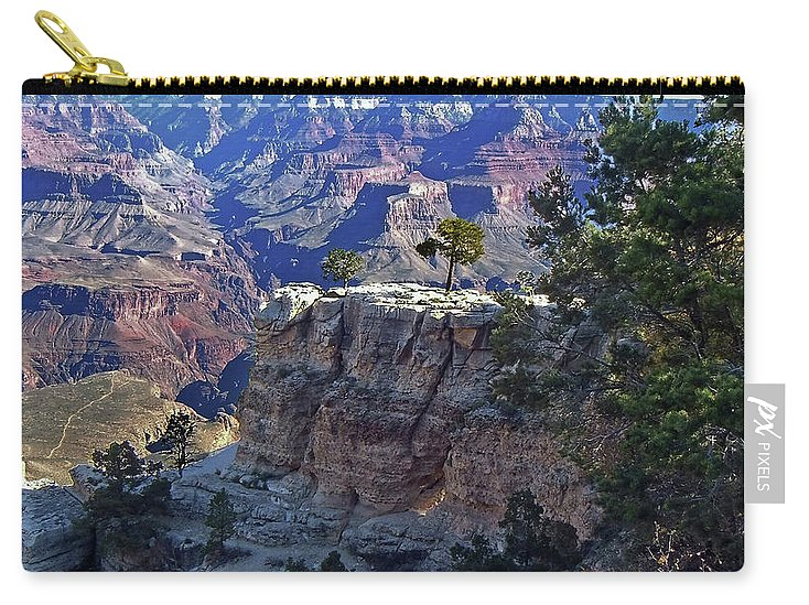 The Grand Canyon Is Arizona's Wonder Of The World. Carry-all Pouch featuring the photograph Grand Canyon7 by George Arthur Lareau