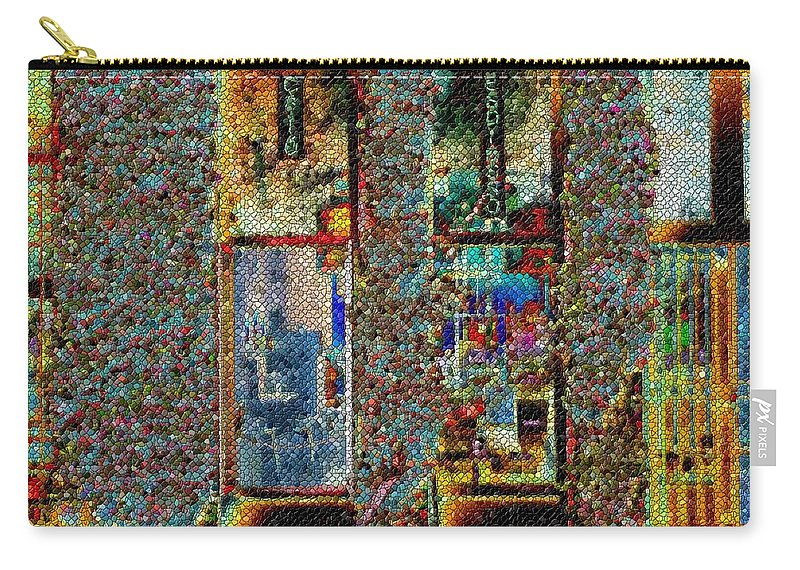 Seattle Carry-all Pouch featuring the digital art Grand Central Bakery Mosaic by Tim Allen