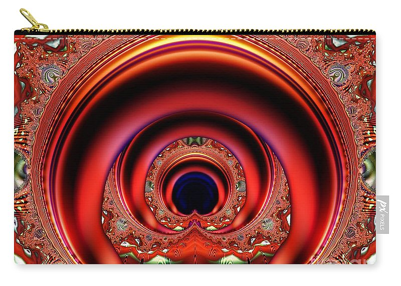 Fractal Carry-all Pouch featuring the digital art Grand Entrance by Ron Bissett