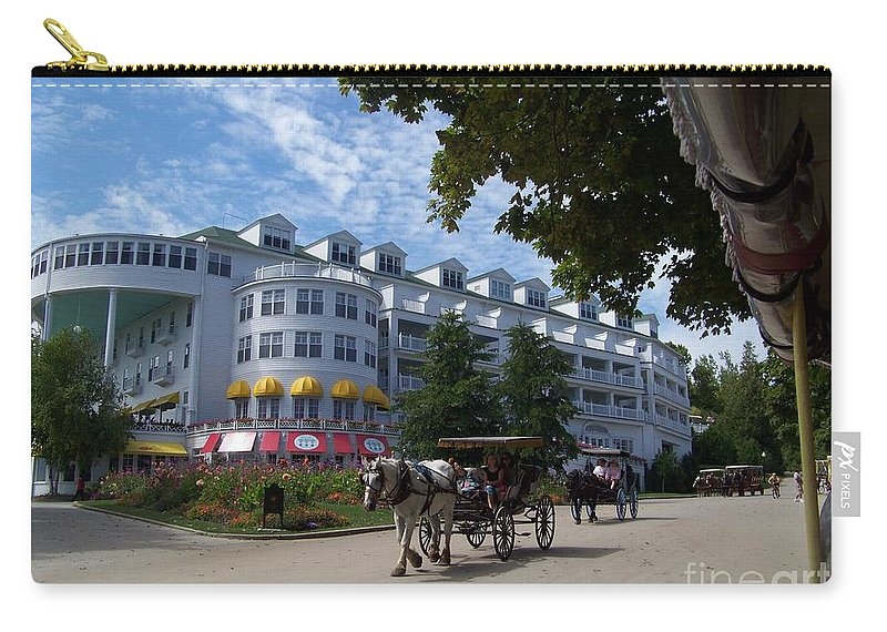 Grand Hotel Carry-all Pouch featuring the photograph Grand Hotel by Charles Robinson