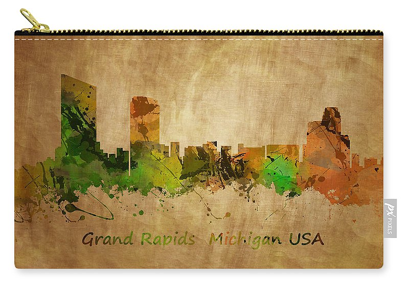 Grand Rapids Carry-all Pouch featuring the photograph Grand Rapids Michigan by Chris Smith