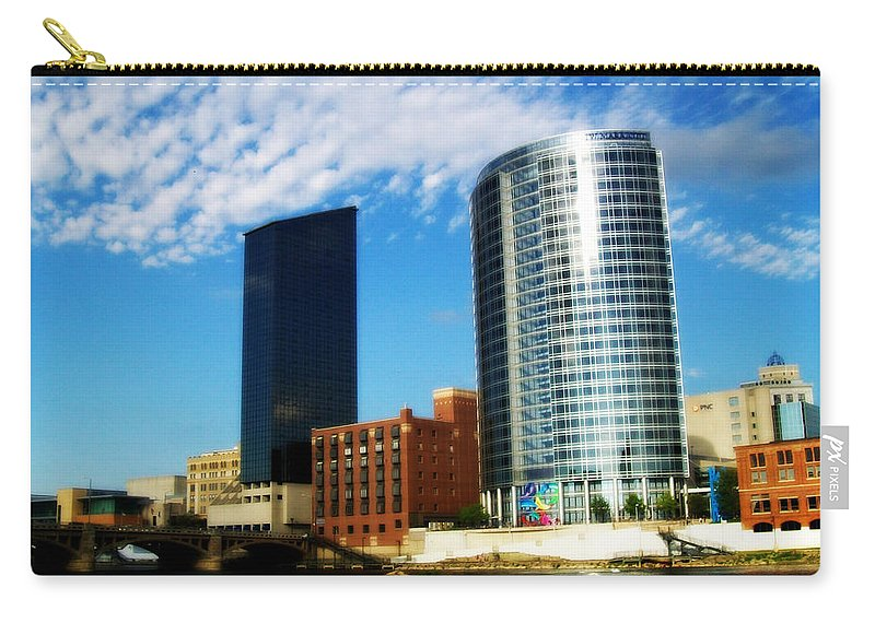 Grand Rapids Carry-all Pouch featuring the photograph Grand Rapids Michigan Is Grand by Michelle Calkins