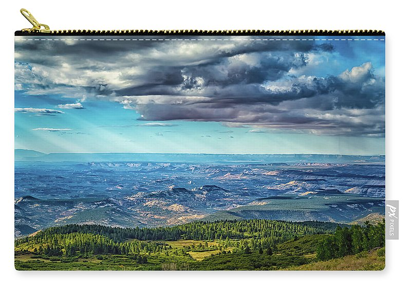 Blue Carry-all Pouch featuring the photograph Grand Staircase - Escalante National Monument by Gestalt Imagery