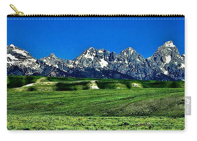 Nature Carry-all Pouch featuring the photograph Grand Tetons by John K Sampson