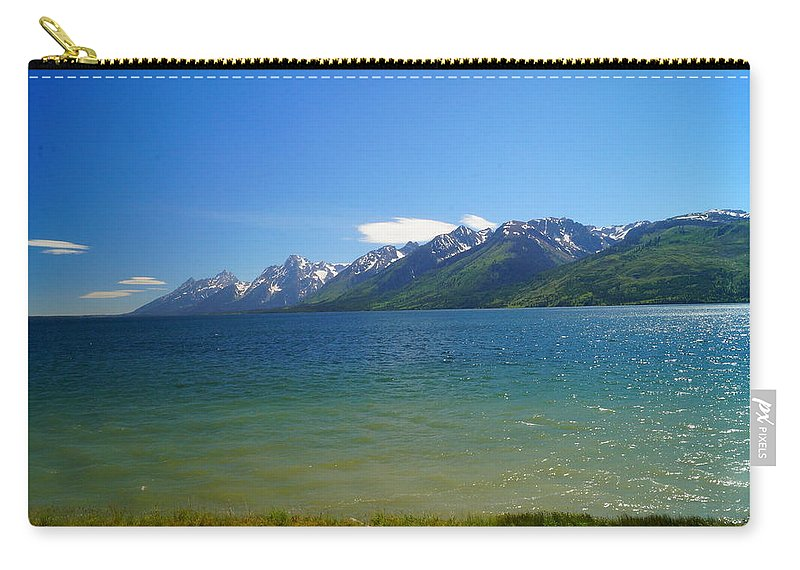 Grand Teton National Park Carry-all Pouch featuring the photograph Grand View by Beth Collins