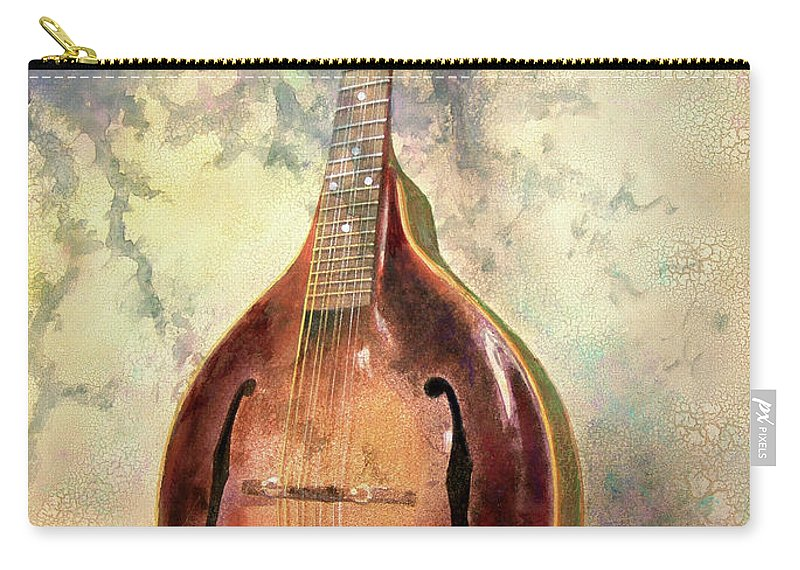 Mandolin Carry-all Pouch featuring the painting Grandaddy's Mandolin by Andrew King