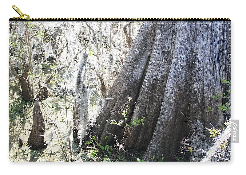 Old Cypress Carry-all Pouch featuring the photograph Grandfather Cypress by Carol Groenen