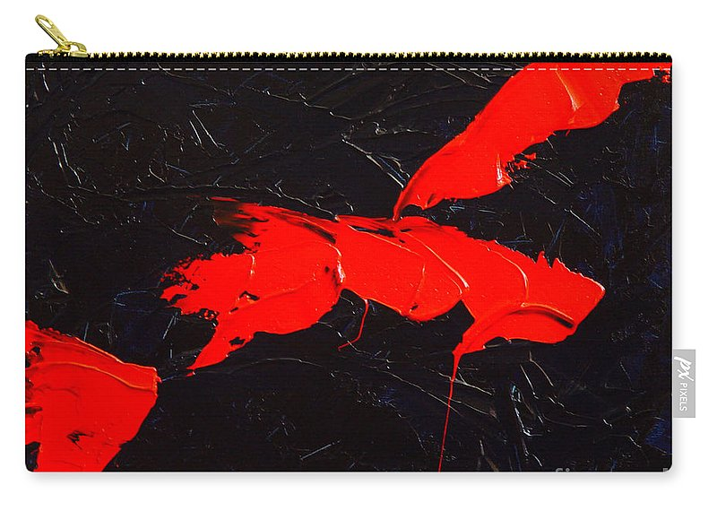 Abstract Carry-all Pouch featuring the painting Grandma I by Dean Triolo