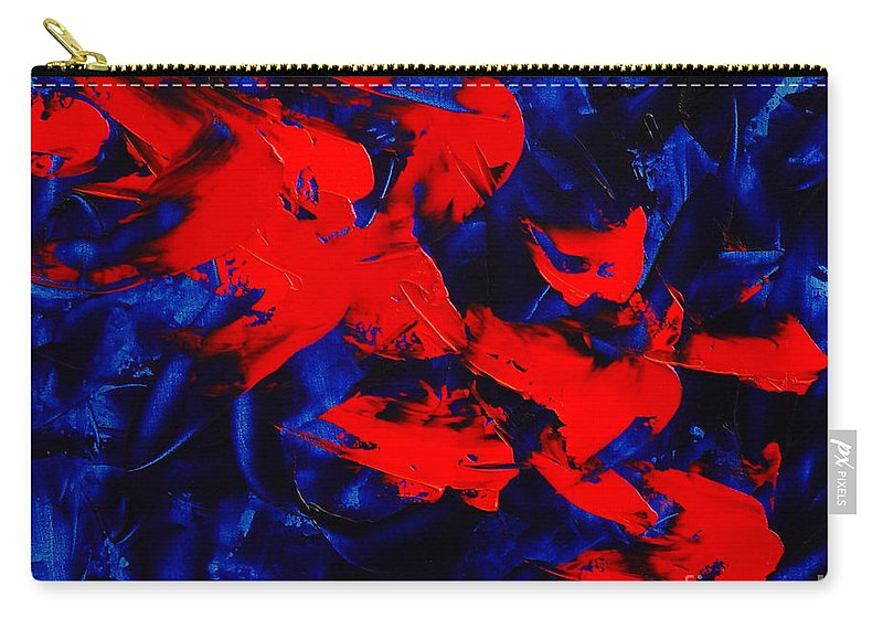Abstract Carry-all Pouch featuring the painting Grandma II by Dean Triolo