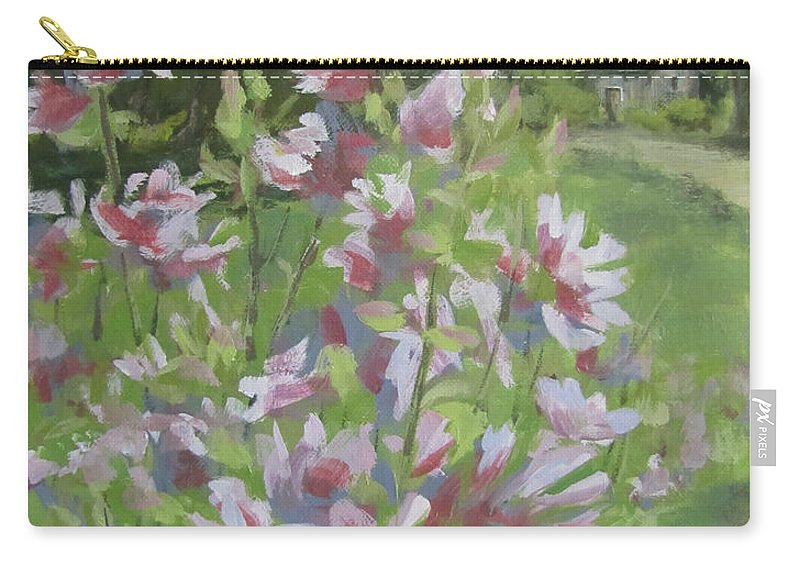 Flowers Carry-all Pouch featuring the painting Grandma's Flowers by Karen Ilari